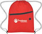 Non Woven Front Zipper Drawstring Bags